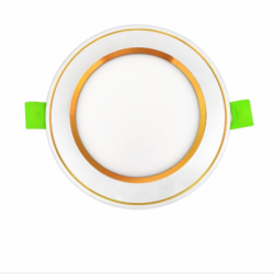 Đèn Led âm trần viền vàng mặt cong EC-DLC-series kingled
