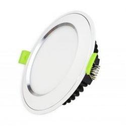 Đèn Led âm trần viền bạc mặt cong EC-DLC-series Kingled