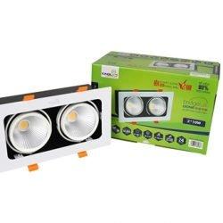 Đèn LED Âm Trần Rọi Topaz 10W (GL-2*10-V227) Kingled
